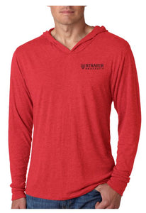 Next Level Adult Triblend Long-Sleeve Hoody-VINTAGE RED