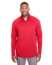 Under Armour Mens Qualifier Hybrid Corporate Quarter-Zip-RED
