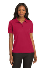 Port Authority® Ladies Silk Touch™ Polo-Red