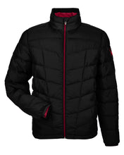Spyder Men's Pelmo Insulated Puffer Jacket-BLACK/RED