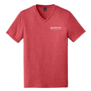Mens Perfect Tri® V-Neck Tee RED FROST