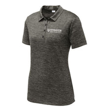 Ladies Electric Heather Polo GRAY BLACK