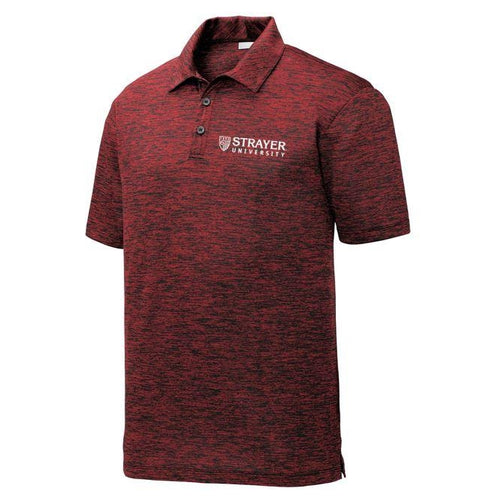 Electric Heather Polo DEEP RED
