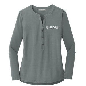 Ladies Concept Henley Tunic GRAY SMOKE