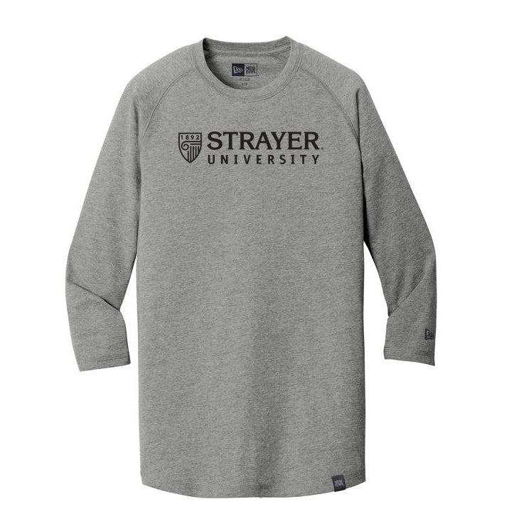 New Era® Heritage Blend 3/4-Sleeve Baseball Raglan Tee SHADOW GRAY