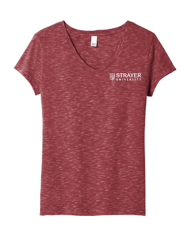 District Women's Medal V-Neck Tee - Cardinal