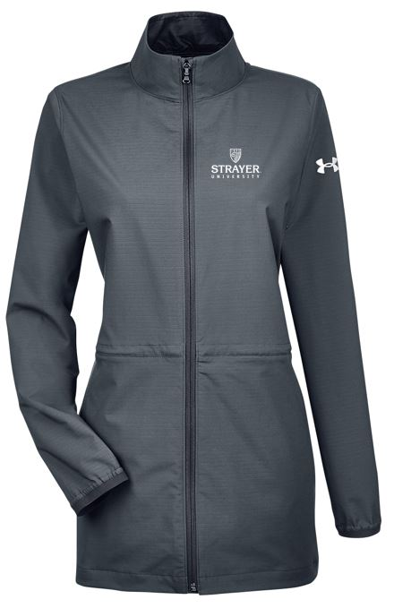 Under Armour Ladies' Corporate Windstrike Jacket-STLTH/BLACK