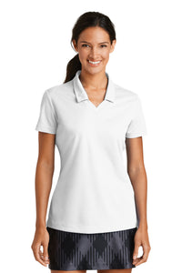 Nike Ladies Dri-FIT Micro Pique Polo-White