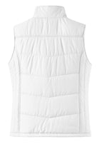 Ladies Puffy Vest WHITE