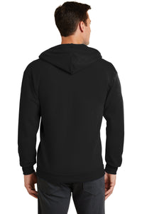 Port & Company® Core Fleece Full-Zip Hooded Sweatshirt-Black