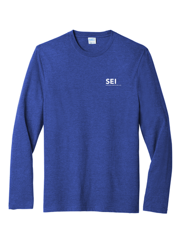 SEI - Port & Company Long Sleeve Fan Favorite Blend Tee - True Royal Heather