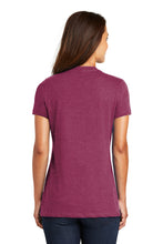 District ® Women's Perfect Weight ® V-Neck Tee-Heathered Loganberry
