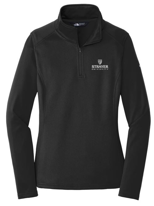 The North Face® Ladies Tech 1/4-Zip Fleece-BLACK