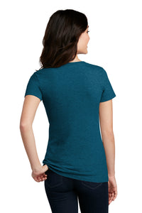 District ® Women's Perfect Blend ® V-Neck Tee-Deep Turquoise Fleck