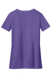 District ® Women's Perfect Blend ® V-Neck Tee-Heathered Purple