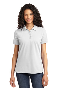 Port & Company® Ladies Core Blend Pique Polo-White