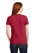 LADIES Port & Company® Core Blend Tee-RED