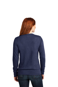 LADIES Anvil® French Terry Crew-neck Sweatshirt-HEATHER BLUE