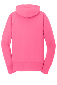 MBA CHEDDAR - Port & Company Ladies Core Fleece Full-Zip Hooded Sweatshirt - Neon Pink