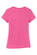 LADIES District ® Perfect Tri ® Tee-FUCHSIA FROST