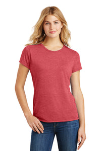 LADIES District ® Perfect Tri ® Tee-RED FROST
