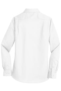 MBA CHEDDAR - Port Authority Ladies SuperPro Twill Shirt - White