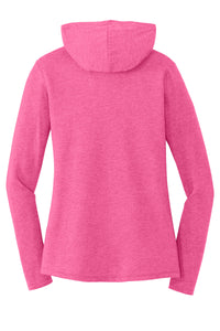 MBA CHEDDAR - District Women's Perfect Tri Long Sleeve Hoodie - Fuchsia Frost