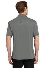 MEN'S Sport-Tek® Contrast PosiCharge® Tough Polo®-DARK SMOKE