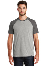 New Era® Heritage Blend Varsity Tee-Graphite/ Light Graphite Twist