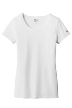 New Era® Ladies Tri-Blend Performance Scoop Tee-White