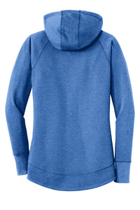 LADIES New Era® Ladies Tri-Blend Fleece Pullover Hoodie-ROYAL HEATHER