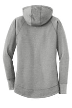 LADIES New Era® Ladies Tri-Blend Fleece Pullover Hoodie-SHADOW GRAY