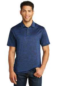 Electric Heather Polo DARK ROYAL