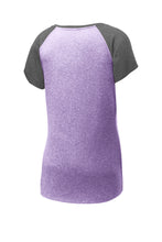 Ladies Heather-On-Heather Contender™ Scoop Neck Tee PURPLE HEATHER