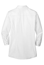 Ladies Red House®  3/4-Sleeve Nailhead Non-Iron Shirt WHITE