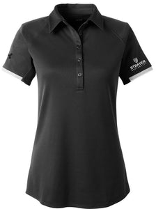 Under Armour Ladies' Corporate Rival Polo-BLACK