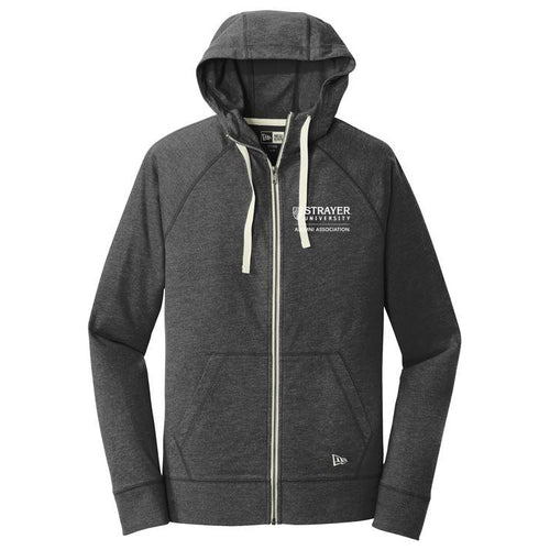 ALUMNI New Era® Sueded Cotton Full-Zip Hoodie BLACK HEATHER