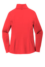 LADIES Port Authority ® Collective Smooth Fleece Jacket-RED PEPPER