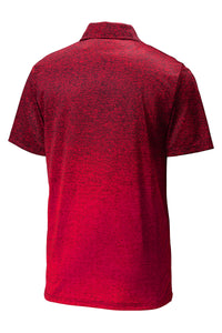MEN'S Sport-Tek ® Ombre Heather Polo DEEP RED