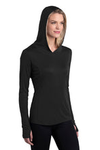 LADIES Sport-Tek ® PosiCharge ® Competitor ™ Hooded Pullover-BLACK