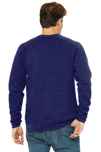 UNISEX Bella+Canvas ® Unisex Sponge Fleece Raglan Sweatshirt-NAVY TRI-BLEND