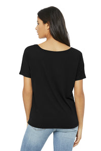 BELLA+CANVAS Women's Slouchy Tee - BLACK