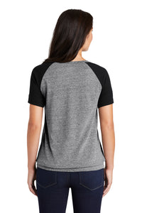 New Era Ladies Tri-Blend Performance Cinch Tee - Shadow Grey/ Black