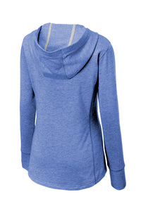 SEI - Sport-Tek Ladies PosiCharge Tri-Blend Wicking Fleece Hooded Pullover - True Royal Heather