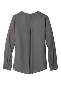 Port Authority Ladies Wrap Blouse - Sterling Grey