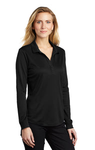 Port Authority ® Ladies Silk Touch™ Performance Long Sleeve Polo-Black