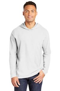 ALUMNI Comfort Colors ® Heavyweight Ring Spun Long Sleeve Hooded Tee WHITE