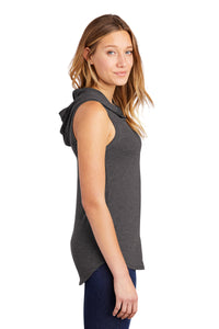 District ® Women's Perfect Tri ® Sleeveless Hoodie-CHARCOAL