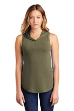 District ® Women's Perfect Tri ® Sleeveless Hoodie-MILITARY GREEN FROST