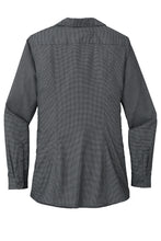 Port Authority ® Ladies Pincheck Easy Care Shirt-Black/ Grey Steel